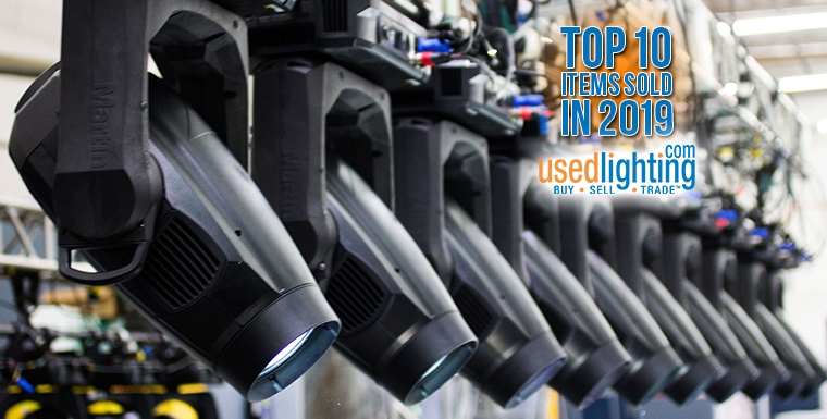 Top 10 Items Sold in 2019 by UsedLighting.com