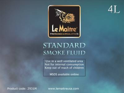 NEW Le Maitre Standard Smoke Fluid (Case of 4 4L Bottles)