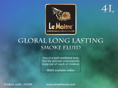 NEW Le Maitre Global Smoke Fluid (Case of 4 X 4L Bottles)