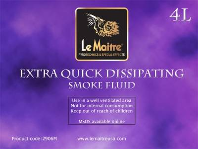 NEW Le Maitre Extra Quick Dissipating Fog Fluid (Case of 4 4L Bottles)
