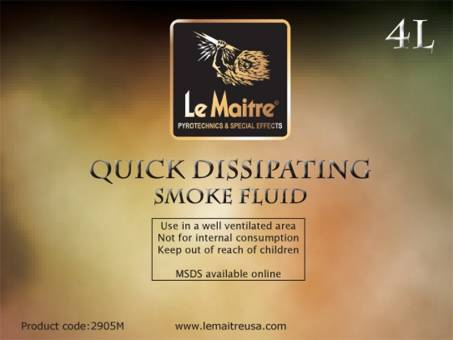 NEW Le Maitre Quick Dissipating Fog Fluid (Case of 4 4L Bottles)