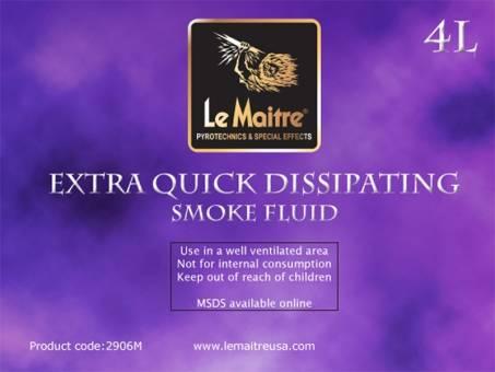 NEW Le Maitre Extra Quick Dissipating Fog Fluid (Case of 4 4L Bottles)