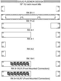 NEW Doug Fleenor RK6-1 Rack Mount Kit