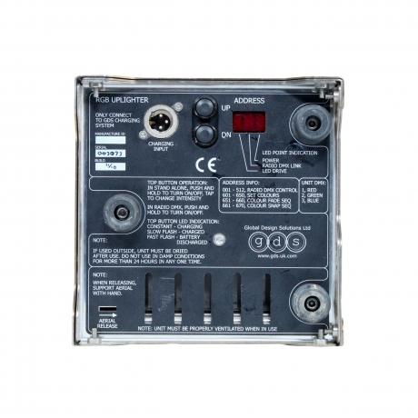 GDS Liteware HO 80W High Output RGB Battery Uplighter (Pkg of 6)