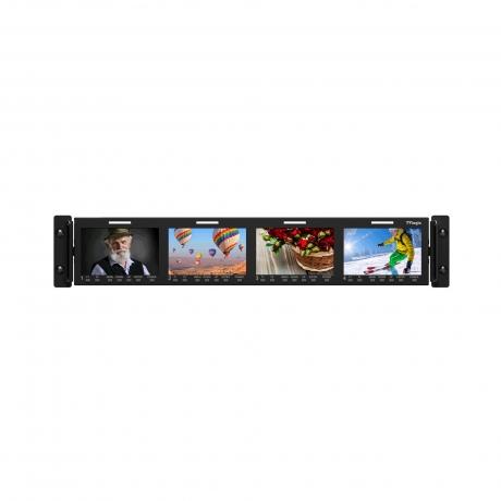 """NEW TVLogic Quad 4.3"""" LCD Rack Monitor"""