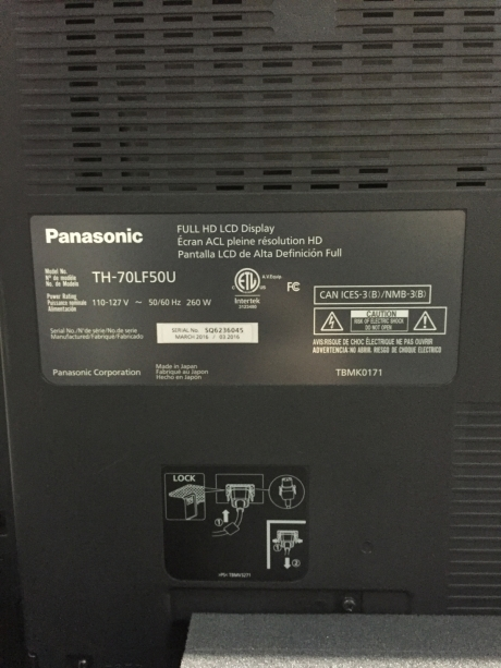 "Panasonic TH-70LF50U 70"" LED Display (Pkg of 2)"