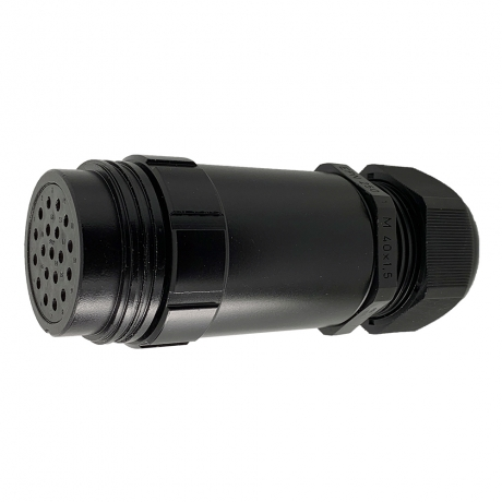 NEW Ceep 19-Pin Connector - Female, Spider, Extended Inline, Leading Earth Contacts