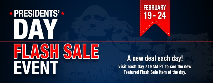 Presidents' Day Flash Sale Event