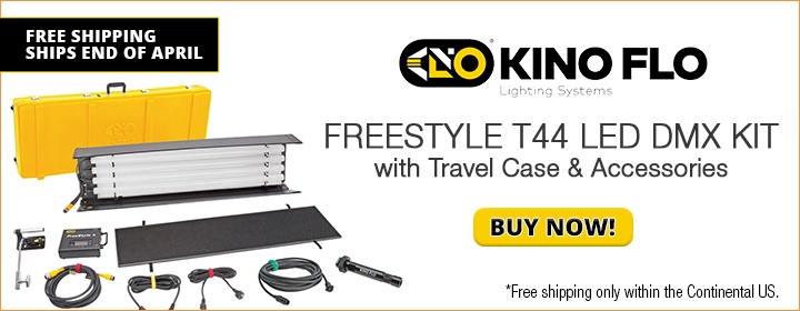 Kino Flo FreeStyle T44 LED DMX Kit w/ Travel Case & Accessories